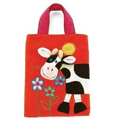 Jellycat Cow Cloth Tote Bag Holdall Purse Black White Red Pink NEW