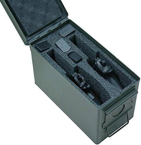 Case Club 2 Pistol Holder .50 Cal Ammo Can Foam(Closed Cell,Military Grade Foam)