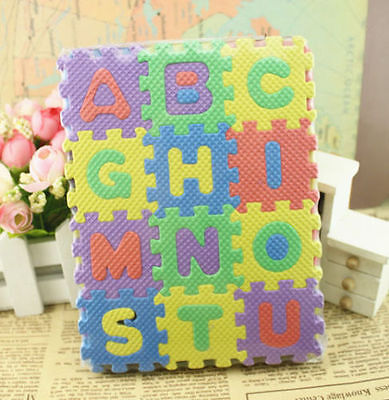 36 pcs Baby Kids Alphanumeric Educational Puzzle Blocks Infant Child Toy Gift RS