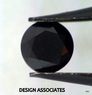 BLACK SAPPHIRE 4 MM ROUND CUT ALL NATURAL CALIBRATED AND FACETED AAA 4 PC SET Cut Natural Sapphire