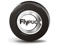 FlyPuck 8oz Off-ice training puck for ice/roller hockey (Black - 8 ounces)