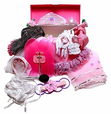 Girls Dress Up Trunk: Princess, Ballerina, Pop Diva, Bride, Fairy costumes