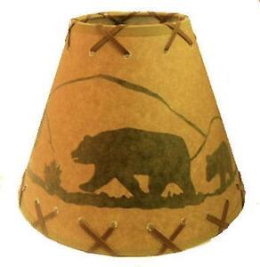Rustic Bear Lamp