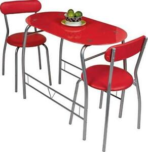 Red Glass Dining Table and Chairs  sc 1 st  eBay & Glass Dining Table and Chairs | eBay