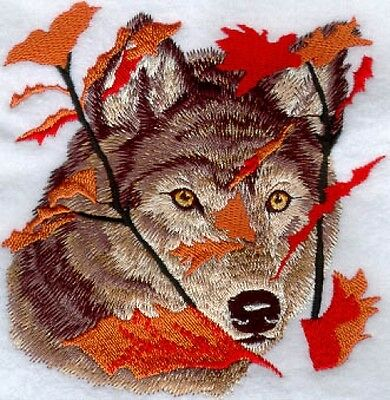 Embroidered Fleece Jacket - Autumn Wolf M1236 Sizes S - XXL