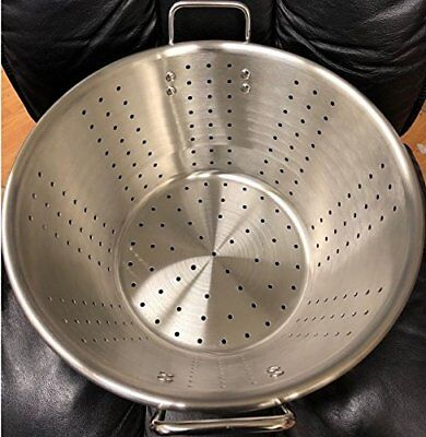 Restaurant Quality Large Thick Stainless Steel Colander Food Vegetable Strainer