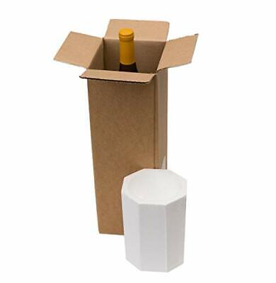 Wine Bottle Shipping Box Styrofoam Bottles Moving Packaging Shipper Boxes Kit
