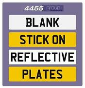 Blank Number Plates
