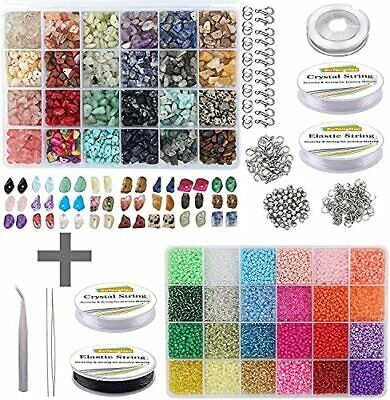 EuTengHao 14523 Irregular Chips Stone Beads Natural Gemstone Beads Kit Glass ...