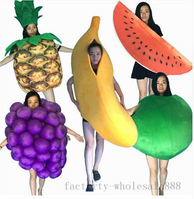 2019 Unisex Fruit Mascot Costume Party Game Cosplay Dress Adults Handmade Outfit