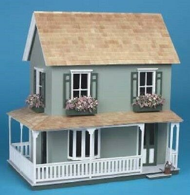 Miniature Dollhouse Kit Wooden 1:12 Inch Scale Doll House Unfinished Victorian