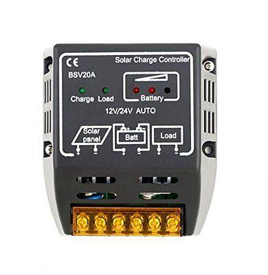 20A 12V/24V Solar Panel Charge Controller Battery Regulator Safe Protection YK