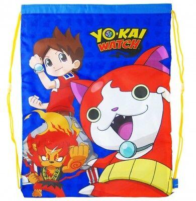 (NEW Nintendo Yo-Kai Watch Boys Kids Childrens School Pe Gym Shoe Sports Bag Swim)