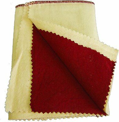 "6 x 6"" Yellow & Red Jewelry Polishing Buffing Cloth Silver Gold Metal #JT-PC66YR"