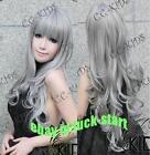 Long Grey Cosplay Wig