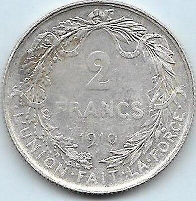 2 Francs argent Albert I 1910 FR