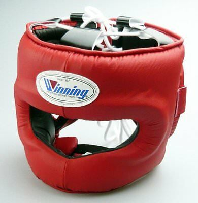 WINNING Boxing Head Gear FG-5000 Training Red Large L Size Made in Japan NEW