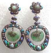Chinese Jade Earrings