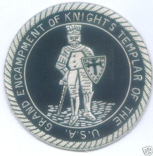 Medieval Crusades Knights Templar Seal Arms Heraldry Masonic Mason Lodge Patch 3