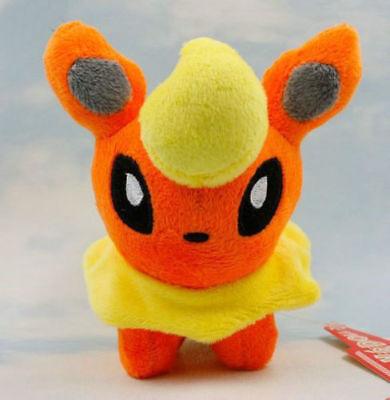 "Pokemon Go Plush Toy Flareon 5"" Nintendo Game Cuddly Cute Stuffed Animal Doll"