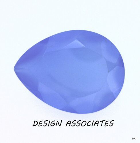 DARK BLUE CHALCEDONY 12X8 MM PEAR OUTSTANDING BLUE COLOR