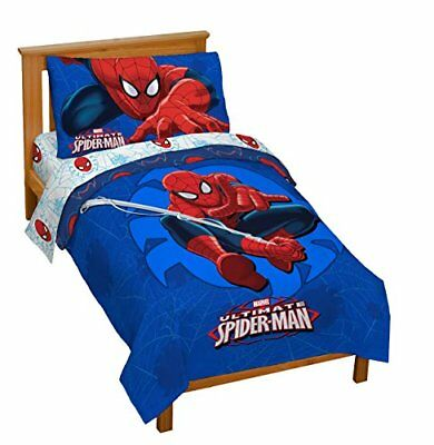 NEW MARVEL Spider Man Classic Toddler Bed set FREE SHIPPING