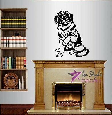 Vinyl Decal Dog Saint Bernard Bedroom Nursery Pet Shop Wall Sticker 113