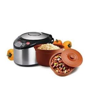 VitaClay VM7900-6 Smart Organic Multi-Cooker- A Rice Cooker, Slow Cooker, Digital Steamer plus bonus Yogurt Maker, 6 Cup