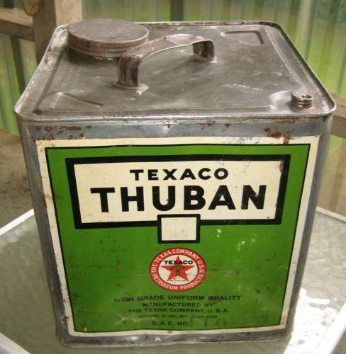 Texaco oil can ebay Motor oil shelf life