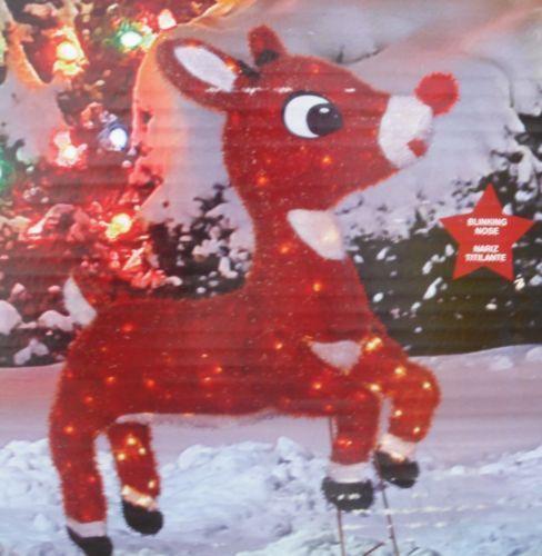 lighted reindeer ebay. Black Bedroom Furniture Sets. Home Design Ideas