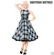 Black and White Retro Dress