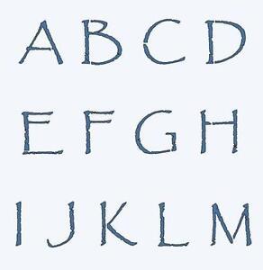 primitive letter stencils