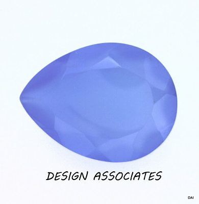 DARK BLUE CHALCEDONY 22X16 MM PEAR OUTSTANDING BLUE COLOR