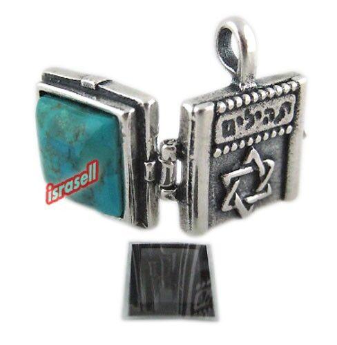 LOCKET WITH TEHILLIM - Star of David - Jewish Book Psalms Microfilm Pendant Gift