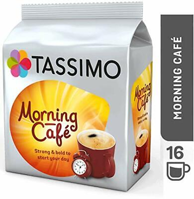 Tassimo Morning Cafe Coffee Pods (Pack of 5, 80 pods in total, 80 servings) FAST