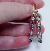 Antique Sapphire Earrings