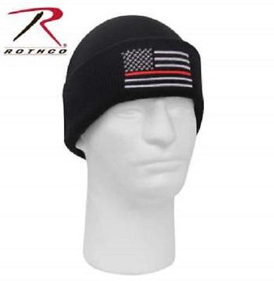 Thin Red Line Flag Firefighter Knit Watch Cap Hat Beanie Winter Warm New - Fireman Hat