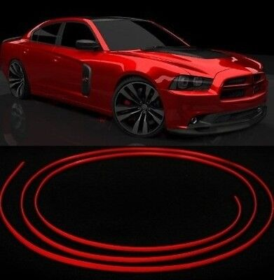Micro Red Trim Molding Strip Interior Car Styling Speakers Gauges Dashboard 3m