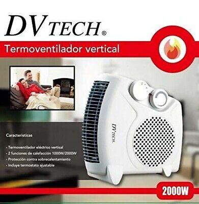 Calefactor eléctrico de aire 2000W Radiador Estufa Casa Baño Vertical Horizontal