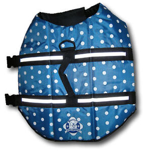 Paws Aboard Blue Polka Dot Dog Life Vest Jacket Preserver Small