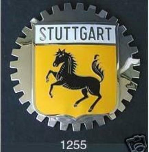 STUTTGART BADGE GERMANY CAR BADGE COAT OF ARMS