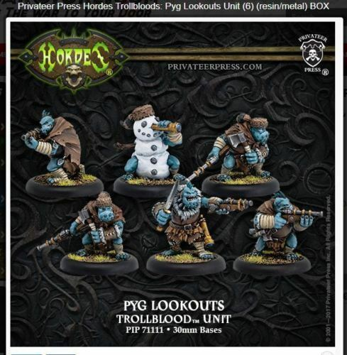Hordes Trollbloods Pyg Lookouts Unit PIP71111 IN STOCK