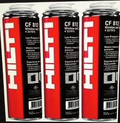 HILTI CF 812 WINDOW & DOOR FOAM (3 CANS), BEST INSULATION, FREE HAT, FAST