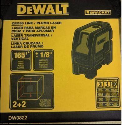 Dewalt Us Version Dw0822 Self Leveling Cross Line Plumb Spots Laser Level New