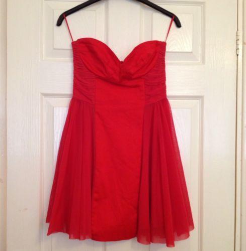 94989d40470a ASOS Strapless Skater Dress | eBay