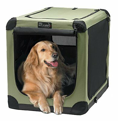 """Pet Crate Dog Bed 42"""" Portable Soft Fabric Puppy Training Travel Car RV Cat Pets"""