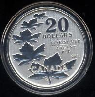 2011 $20 Fine Silver Maple Leaf Canada Commemorative Coin