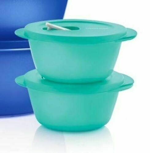 New Tupperware CrystalWave PLUS 3 1/2 Cup Bowl Set - Microwave Stain Resistant