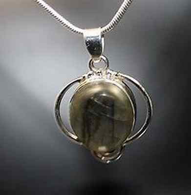 Silberanhänger Labradorit Anhänger 925er Silber