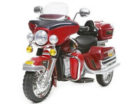 HARLEY STYLE Cruiser Deluxe Ride On 12v Electric Battery Motorbike - Red